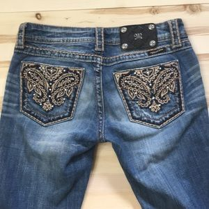 Miss Me embellished bootcut jeans sz27
